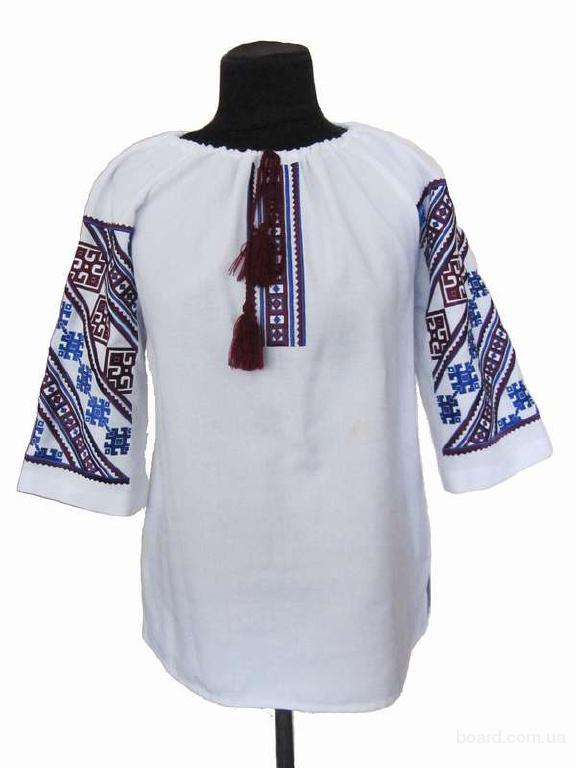 "Блуза класична ""Низинка"" (бордова біла)"