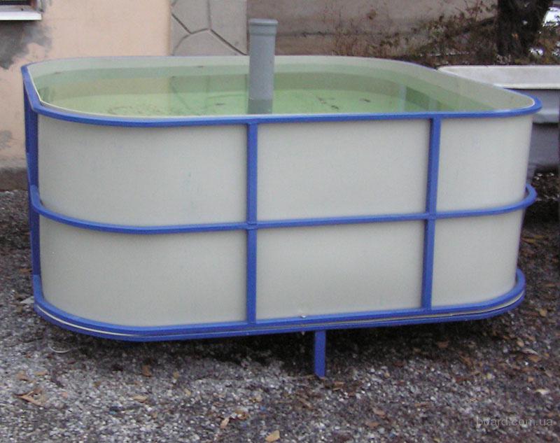Бассейны круглые для рыборазведения объем от 2,4 м3 (полипропилен)