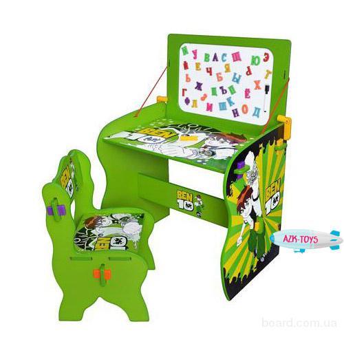 Парта детская  зеленая М 0435 Ben 10