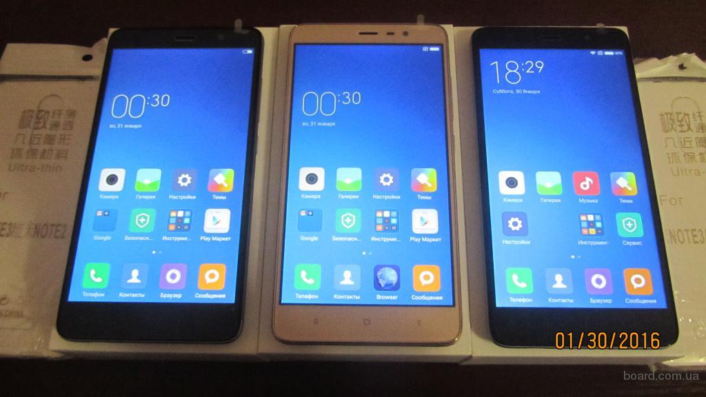 Xiaomi Redmi Note 3 16GB (Gray, Gold) + чехол,пленка