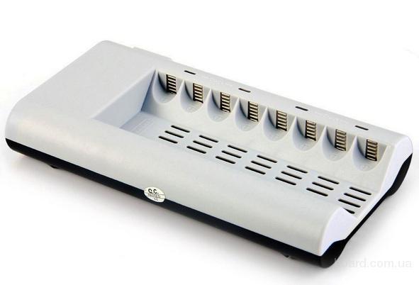 Зарядное автоматическое для аккумуляторов 8 AA и AAA для Ni-MH / Ni-Cd