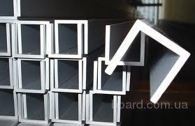 Алюминиевый швеллер 55x23x2,5