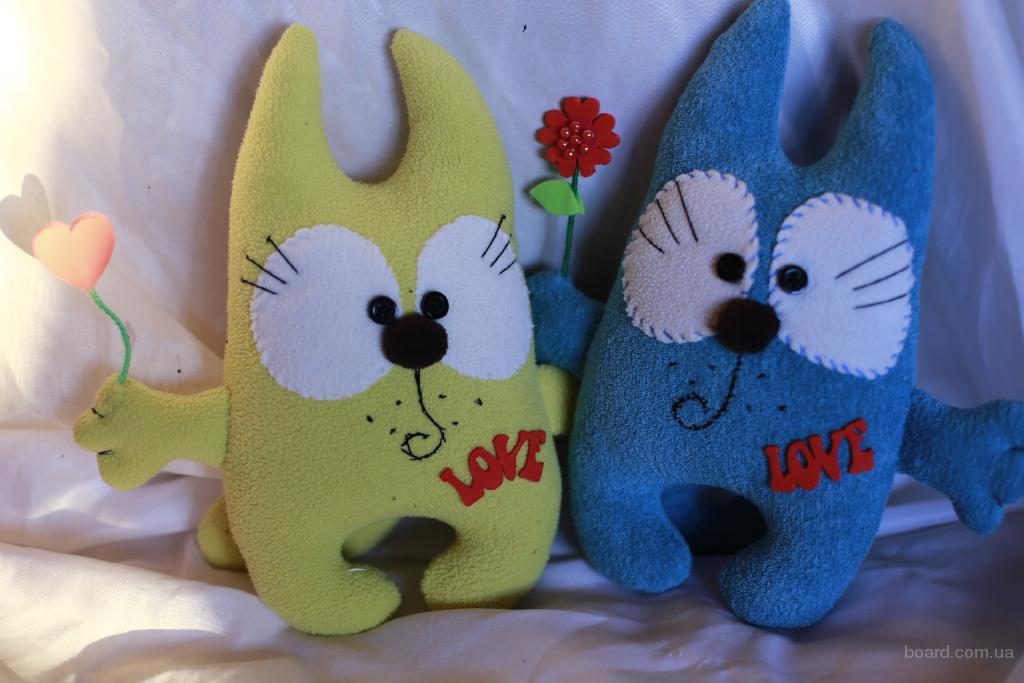 Прикольные коты- мягкие игрушки ручной работы