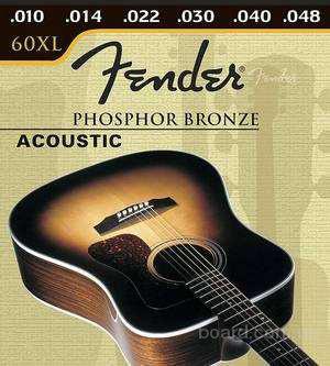 Струны Fender 60 xl phosphor bronze для акустической гитары