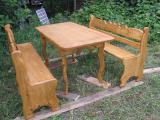 Деревянные столы ,скамейки,стулья из дерева.