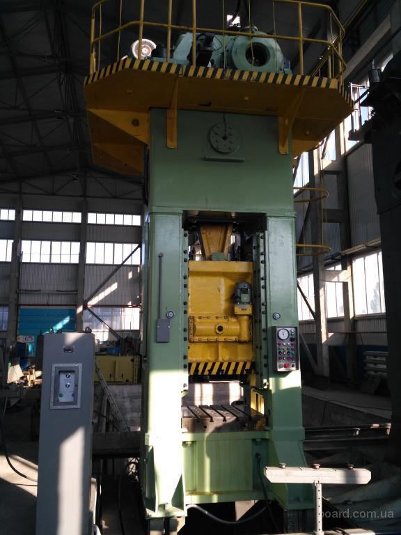 Пресс листоштамповочный усилием 400 тонн модели КВ2536