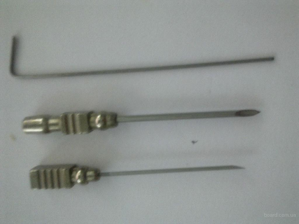 Иглы для взятия крови трубчатые 2040 И-51 L-4cm,  d-1,2мм и  2мм