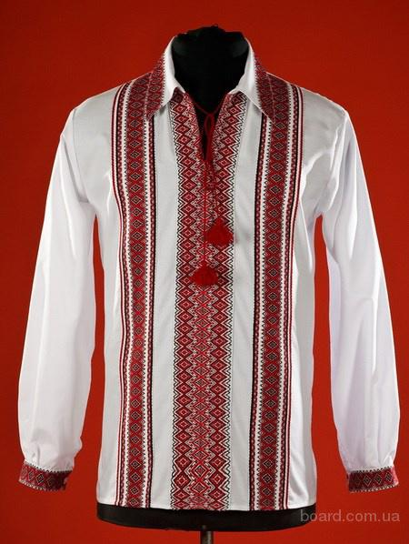 Мужская вышиванка Киев с оригинальной вышивкой-оберегом