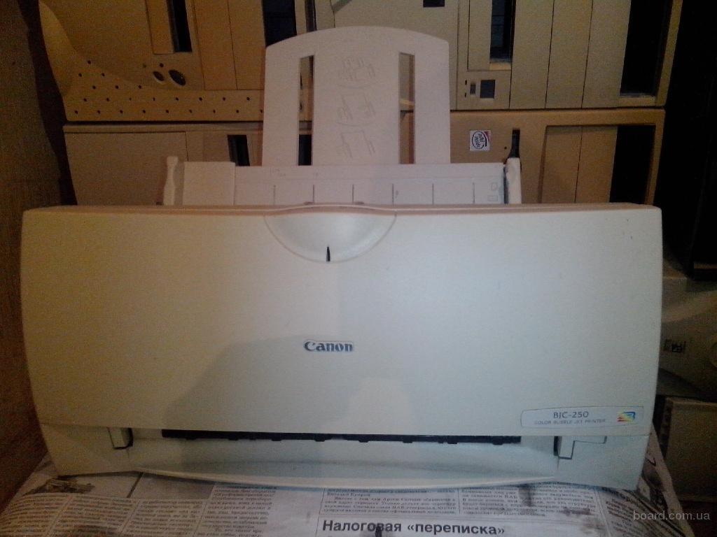 Принтер струйный Canon BJC-250 с картриджем BC-02