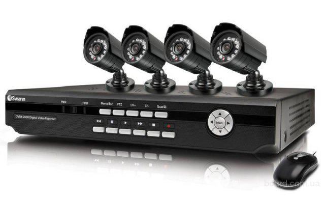 Монтаж современных систем видеонаблюдения.