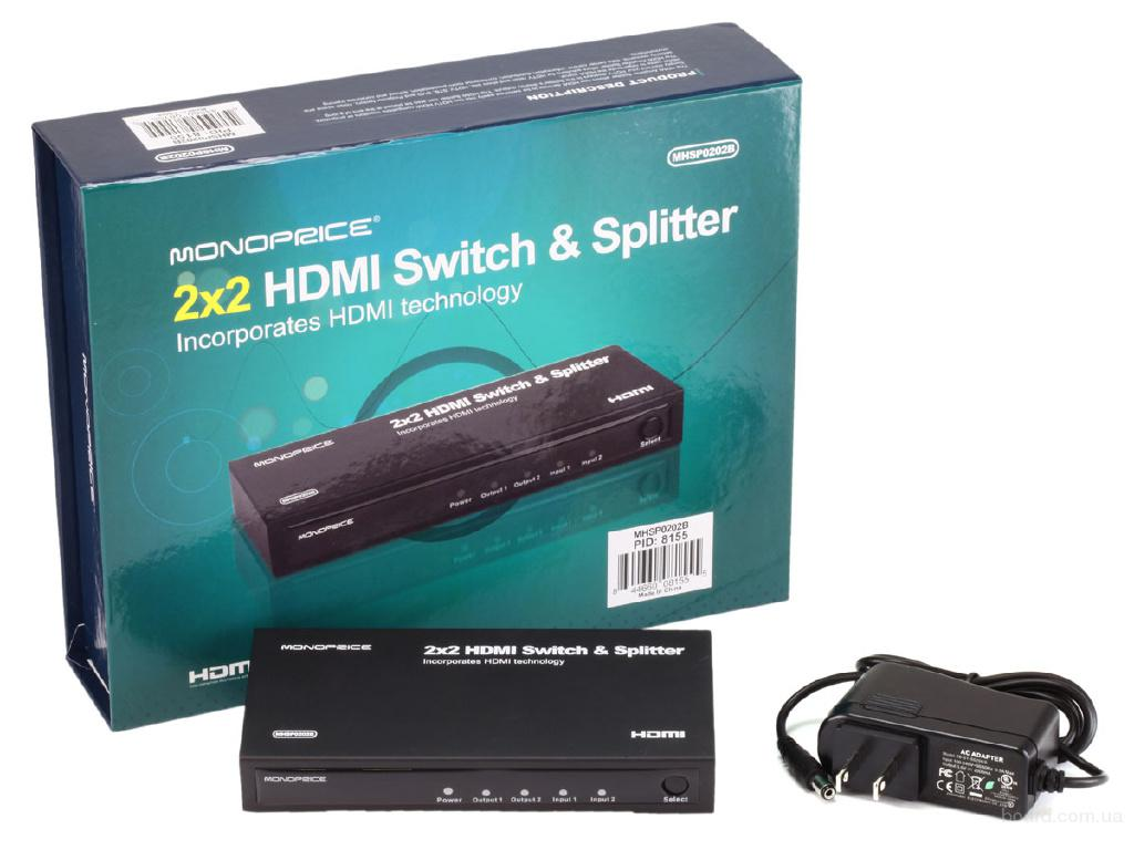 HDMI 2х2 Матричный коммутатор
