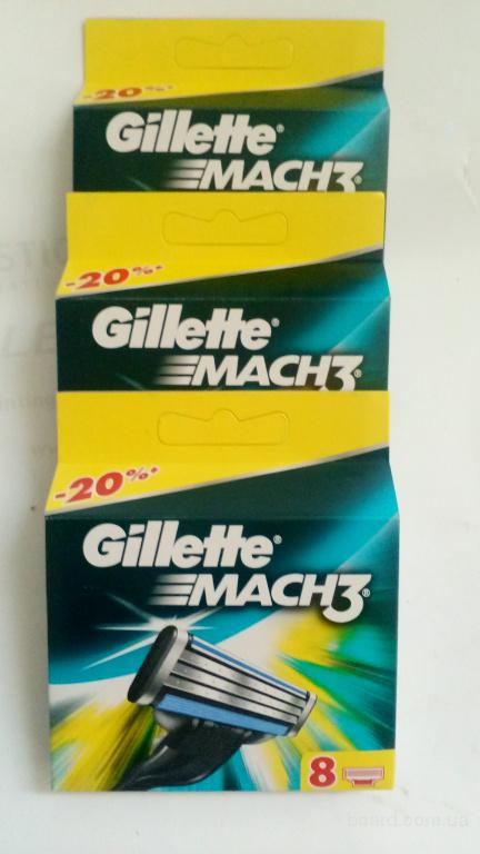 Касета Gillette mach3 8 шт