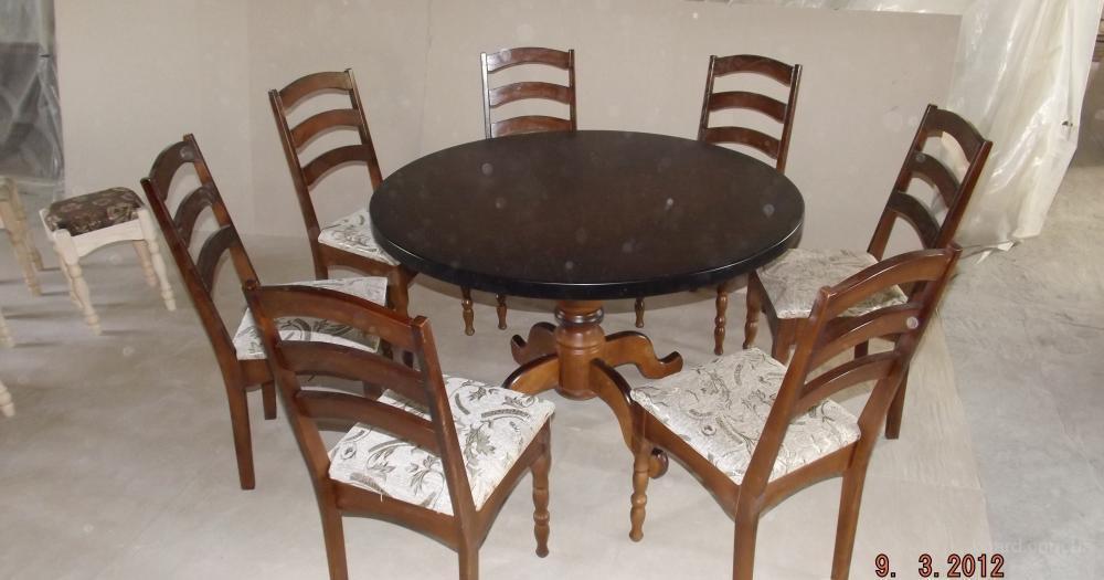 Стол овальный из дерева для зала и столовой, качество, пр-во Украина