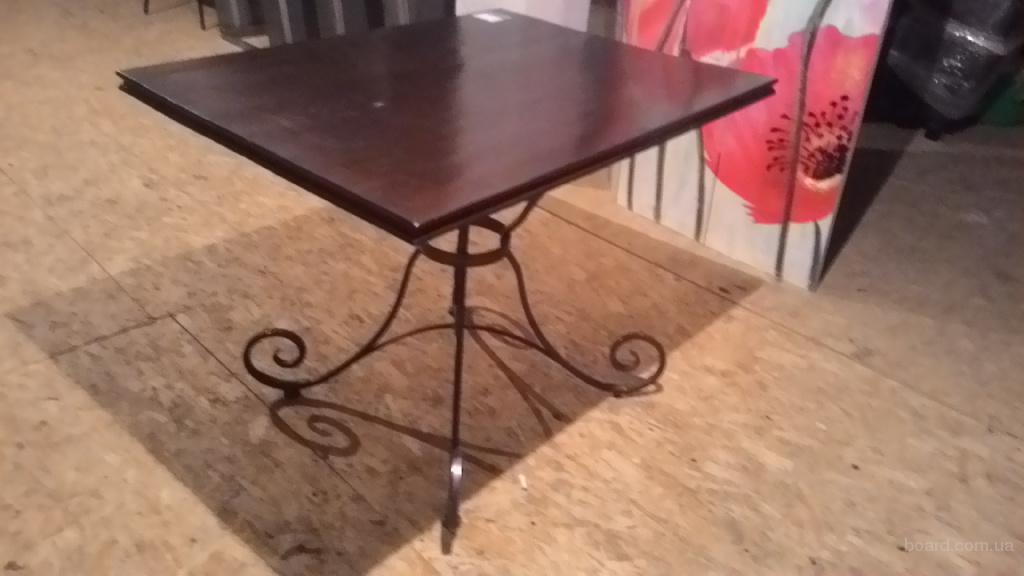 Продажа бу стол деревянный с ковкой