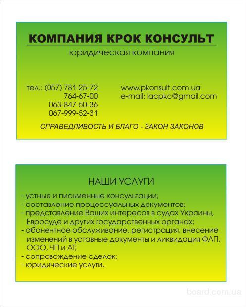представництво і захист прав та інтересів фізичних та юридичних осіб