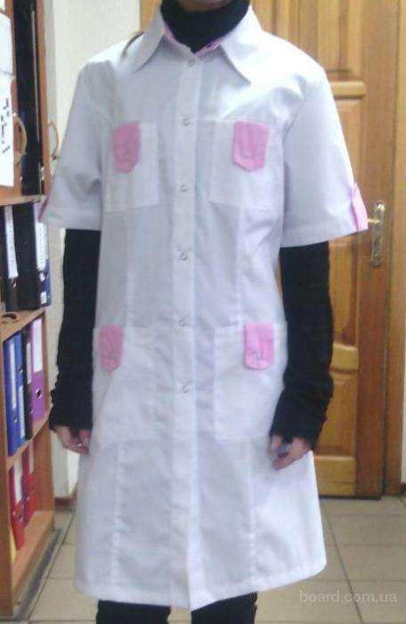 Женский халат для медика, биолога, фармацевта