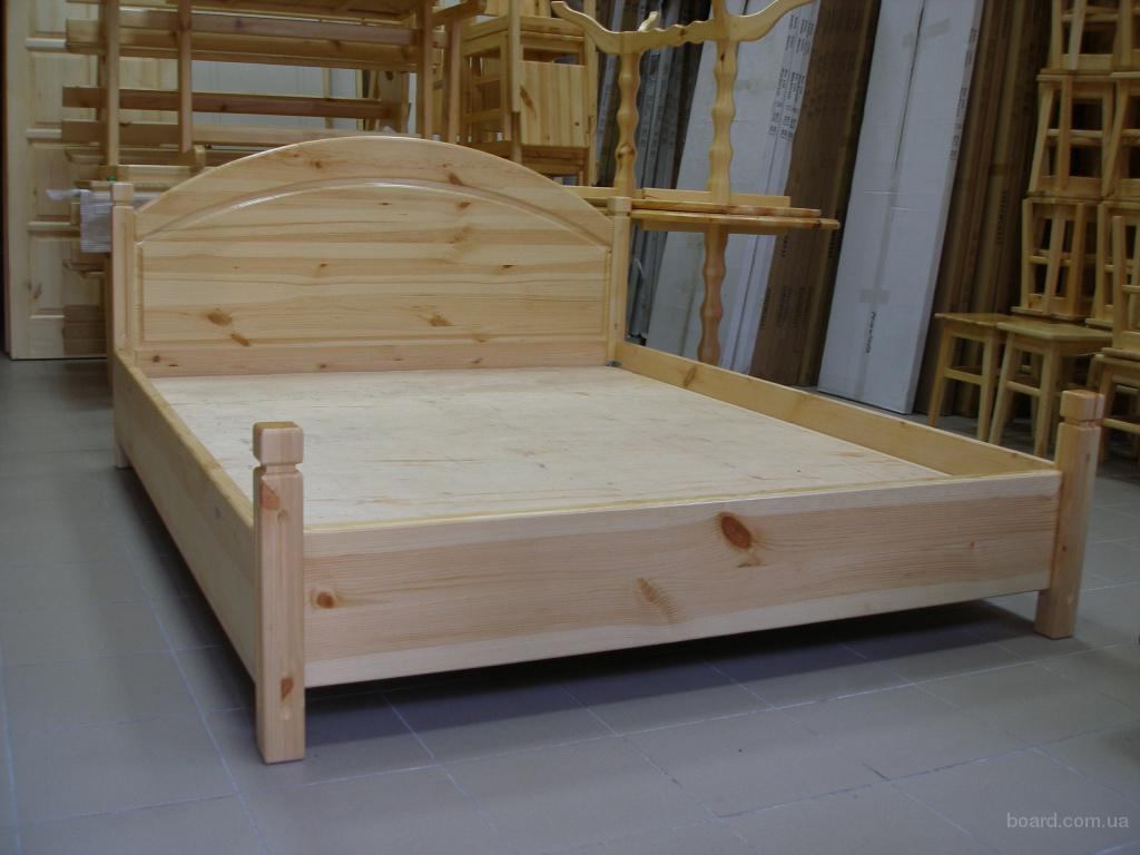 Кровать деревянная 200х160 см сосна