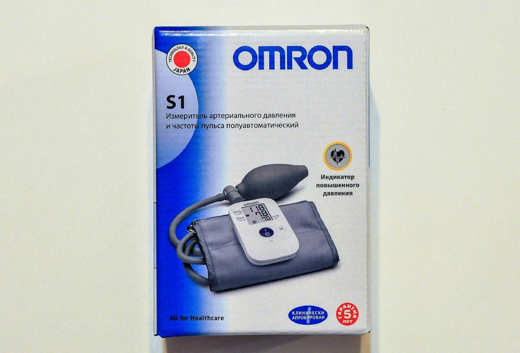 Тонометр Omron S1(полуавтомат, новый) + приятный сюрприз