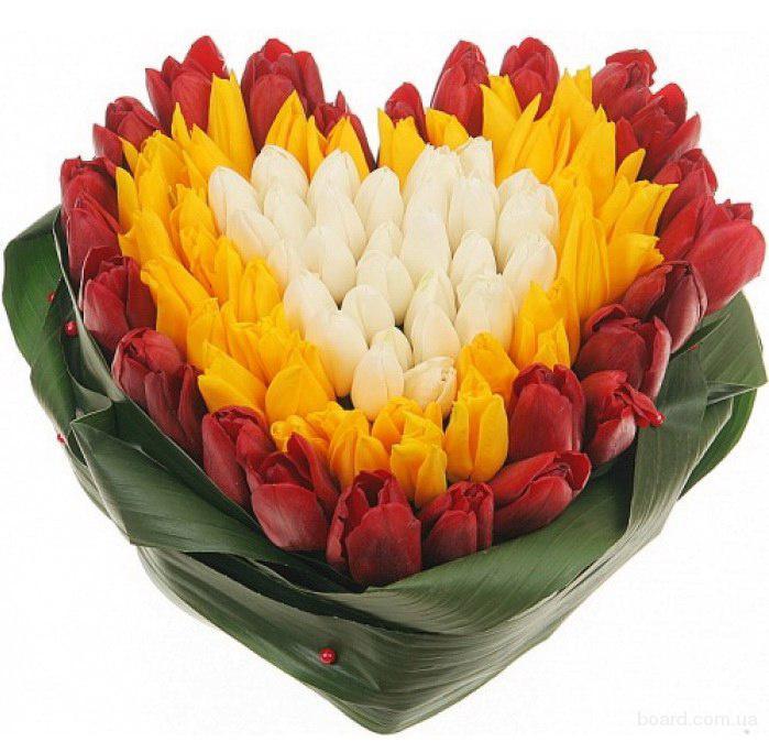Цветы на Валентина