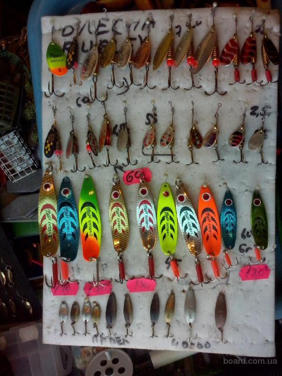 Балансиры, блесна, бокоплавы, осы, блесна ручной работы и все для зимней рыбалки в Киеве