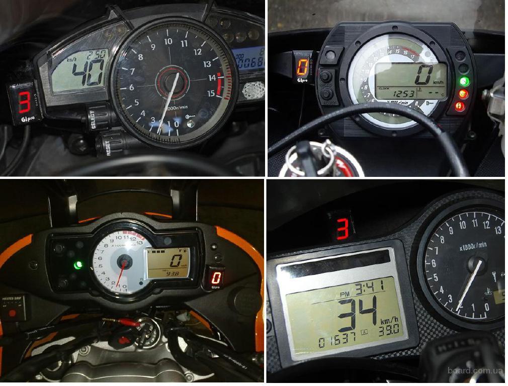 Индикатор включенной передачи на мотоцикле 396