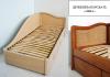 Надежная односпальная кровать из массива дерева Анна