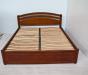 Надежная двуспальная кровать Натали из массива ясеня, дуба
