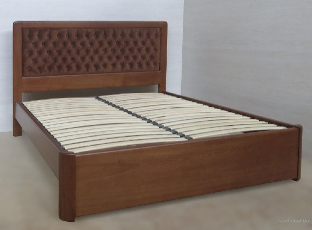 Надежная кровать из массива ясеня, дуба Джулия