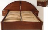 Надежная двуспальная кровать Людмила с прикроватными тумбами