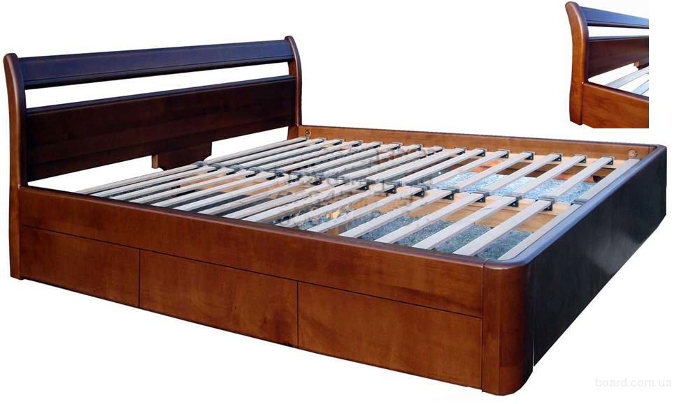 Кровать деревянная с ящиками Валентина