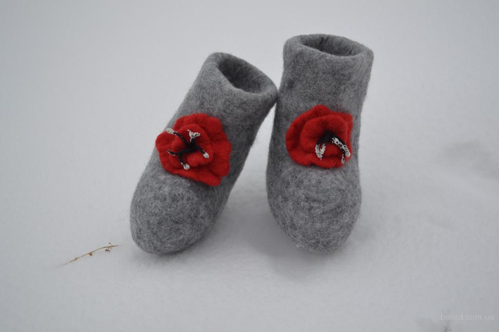 Валенки детские, изготовление детской зимней и демисезонной обуви из шерсти.