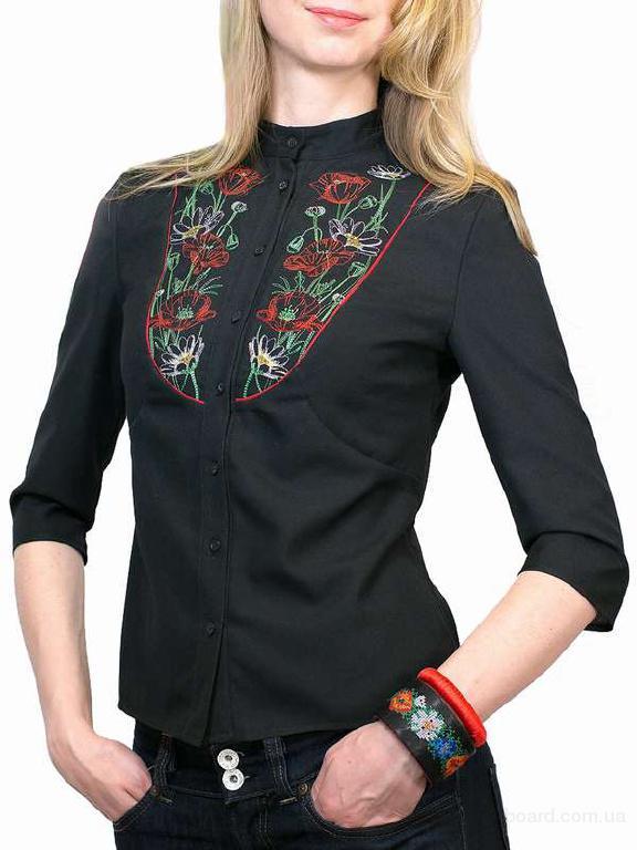 """Жіноча блуза з вишивкою """"Маки"""""""