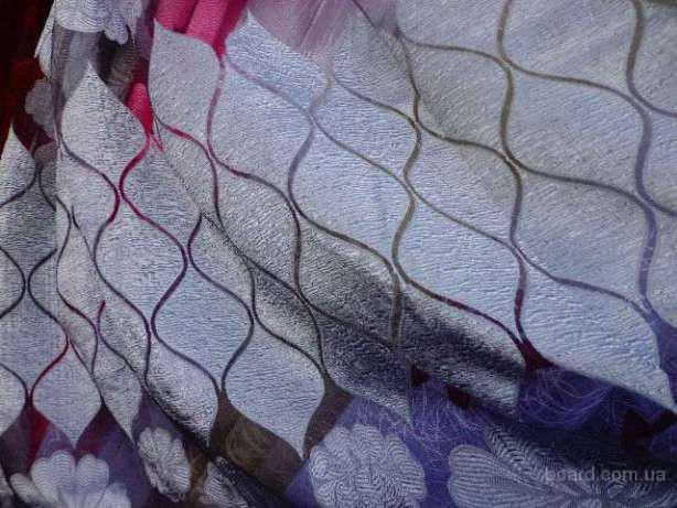 Насыщенная тюль-штора. Длина 280 см