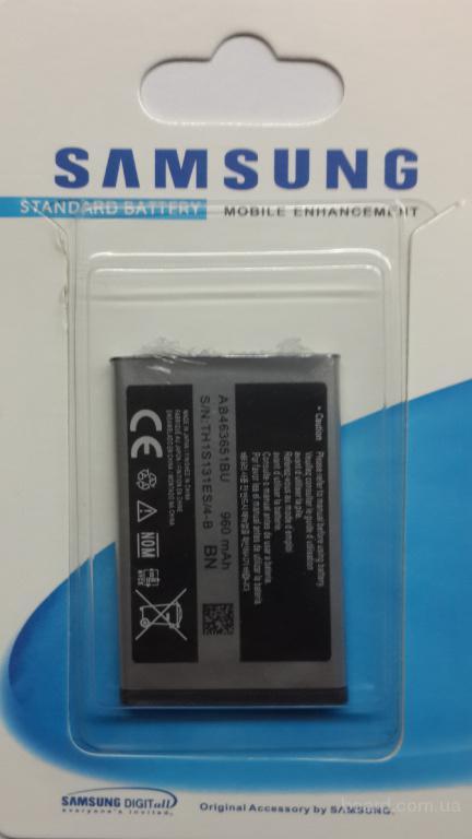 Аккумулятор Samsung AB463651BU S3650/C3322/С3510/S7070