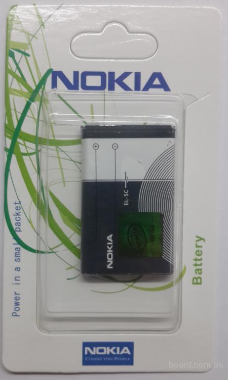 Аккумулятор Nokia BL-5C 1100/1600/2300/3100/3660/6030/7610/E60/N70
