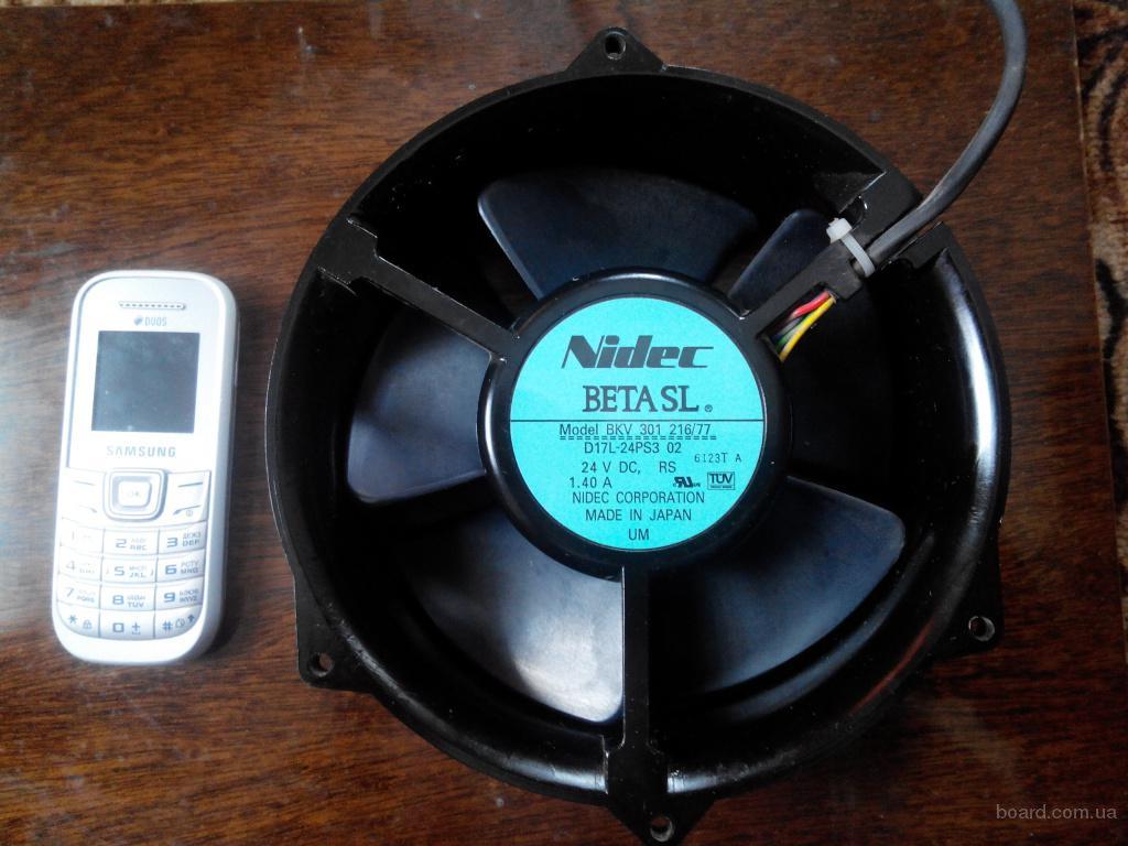 Продам диагональные 12-24v DC вентиляторы 170мм Nidec