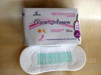 Ежедневные прокладки 30шт Прокладки женские гигиенические озон-анион Тяньши с лечебным эффектом 30шт 150грн