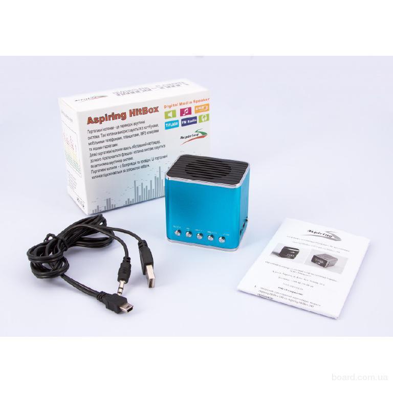 Портативная MP3 колонка с будильником HitBox200, USB, Micro SD