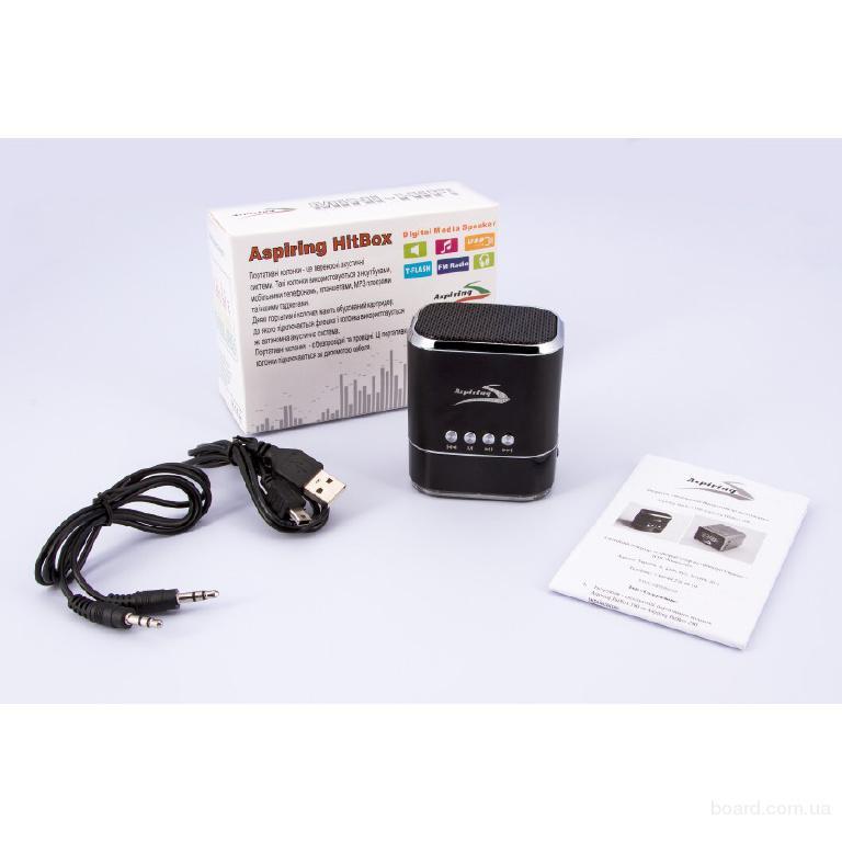 Портативная MP3 колонка с подсветкой HitBox100, гарантия 12 месяцев, поддержка USB флэшек и SD карт