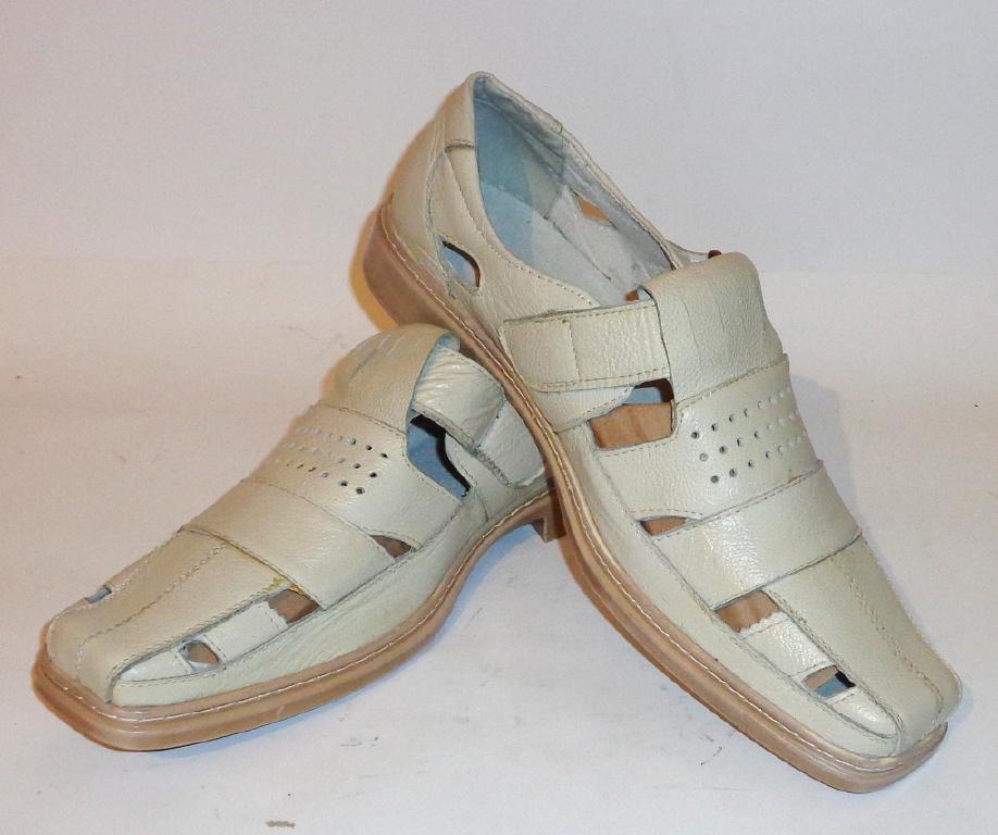 Сандалии комфортные кожаные RWE (СА - 035) 47 размер