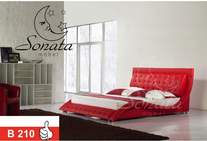 Двоспальні красиві ліжка. Анатомічні матраци.
