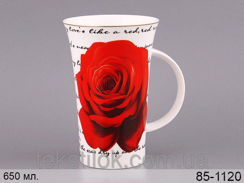 Чашка Роза бел. 650мл
