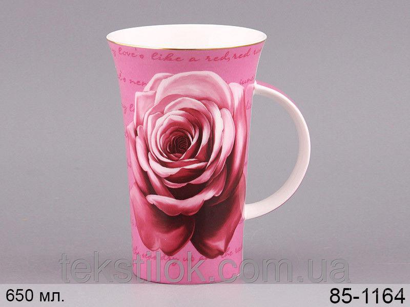 Чашка Роза роз. 650мл