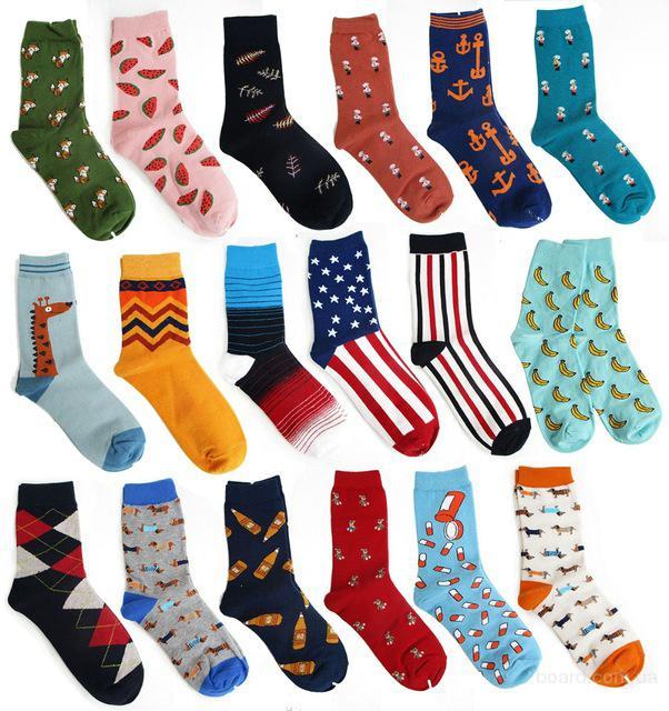 Цветные носки для мужчин и женщин - тренд 2016 г.