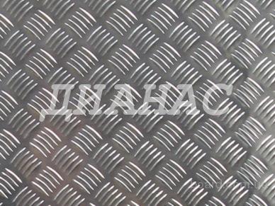 Алюминиевый лист рифленый квинтет