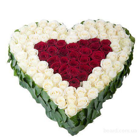 Сердце из цветов Киев  Свадебный Мир