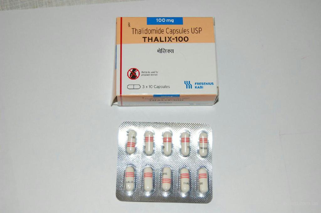 Таликс 100мг (Талидомид) (аналог мирин100)    - капсулы . п/о 100 мг №30 - Фрезениус Каби Онколоджи ЛТД,Индия