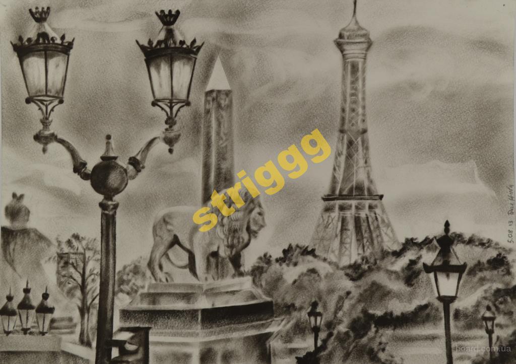 Картина маслом Природа Париж