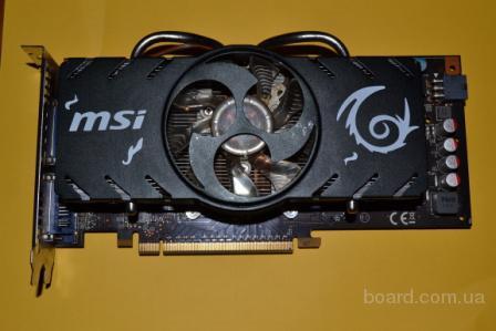 Игровая Видеокарта MSI GTS250 512MB DDR3 256BIT!(б/у)