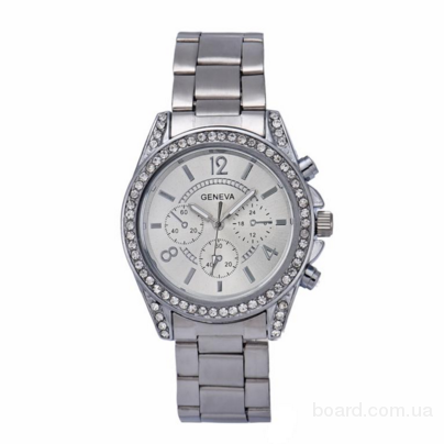 Женские часы Geneva Swarovski Silver